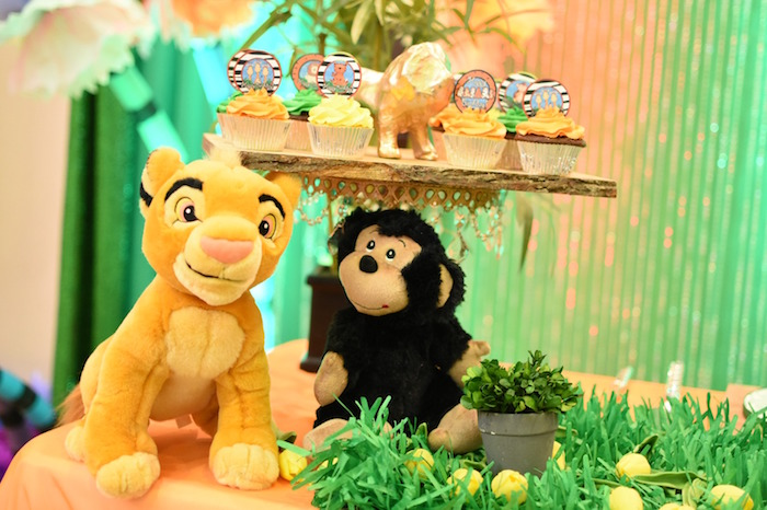 Plush animals and cupcakes from a Jungle Safari Birthday Party on Kara's Party Ideas | KarasPartyIdeas.com (20)