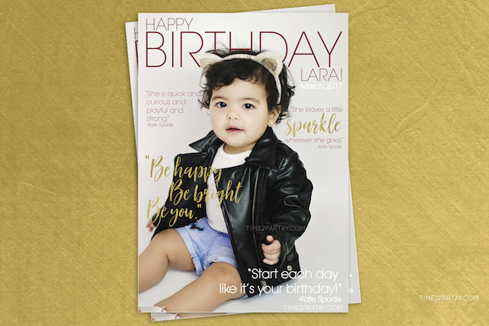 Magazine cover spread from a Kate Spade Inspired 1st Birthday Party on Kara's Party Ideas | KarasPartyIdeas.com (8)