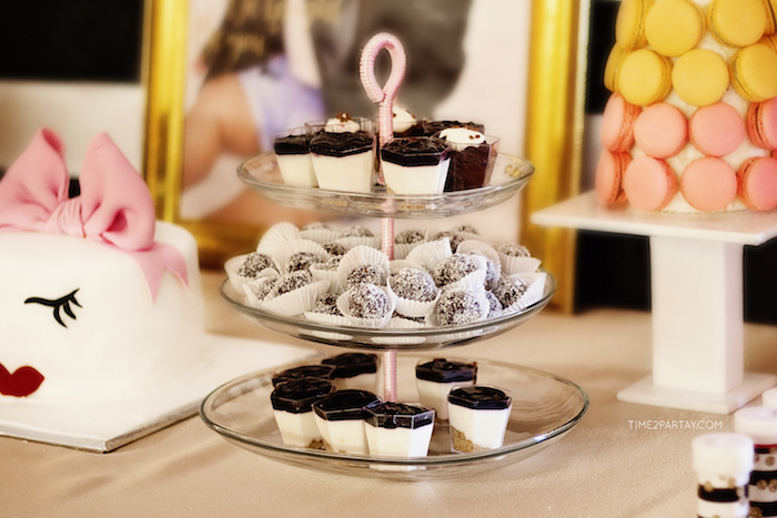 Dessert cups and truffles from a Kate Spade Inspired 1st Birthday Party on Kara's Party Ideas | KarasPartyIdeas.com (16)