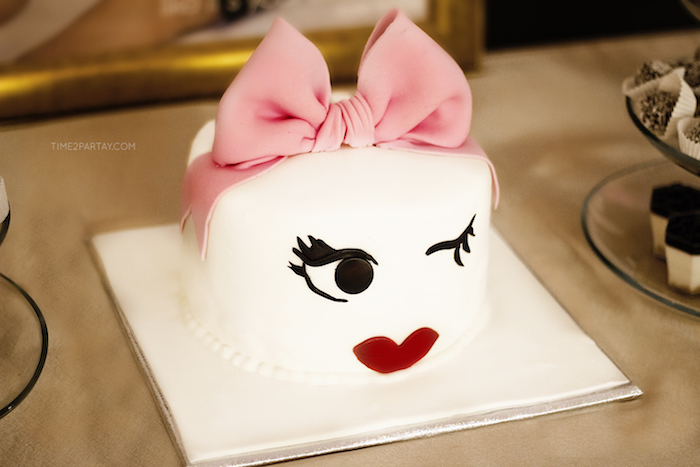 Cake from a Kate Spade Inspired 1st Birthday Party on Kara's Party Ideas | KarasPartyIdeas.com (13)