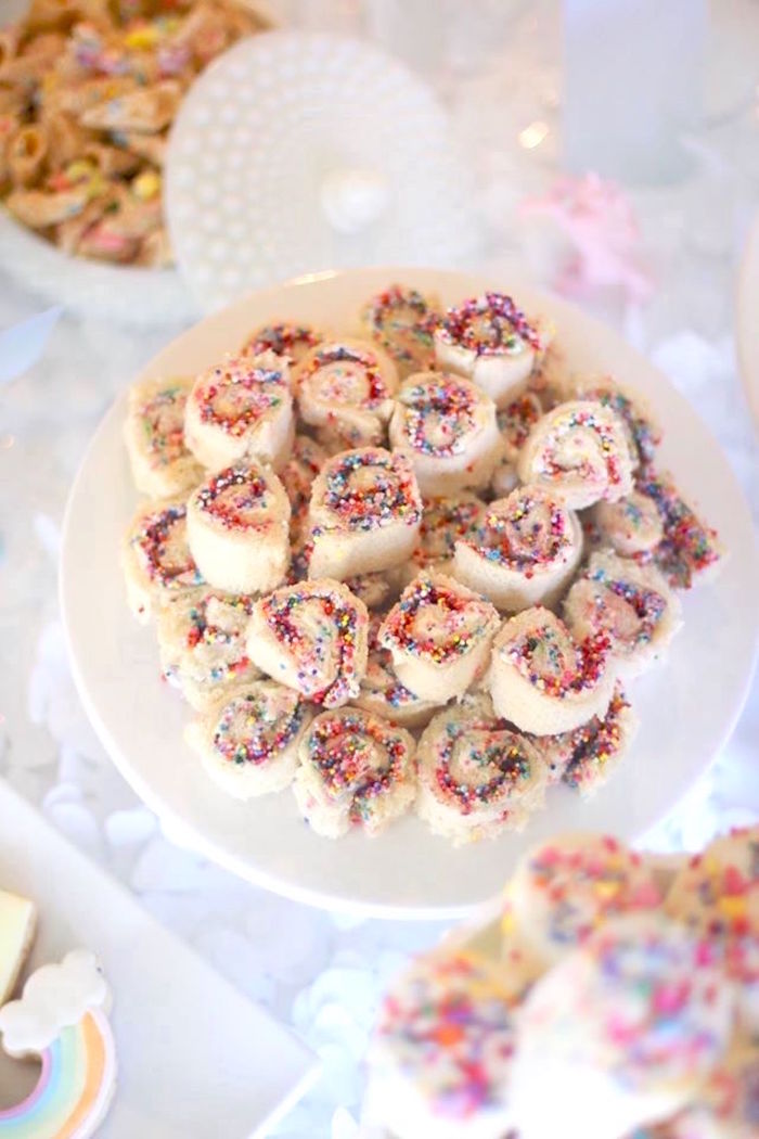 Fanciful fairy bread from a Magical Unicorn Art Birthday Party on Kara's Party Ideas | KarasPartyIdeas.com (41)