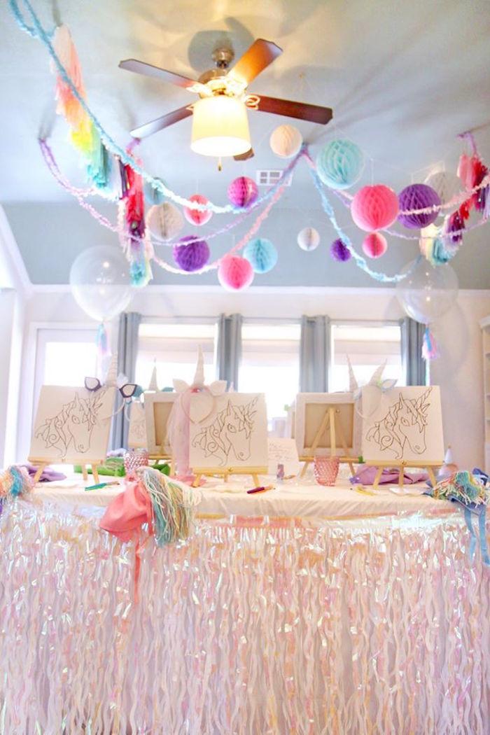 Kara S Party Ideas Magical Unicorn Art Birthday Party