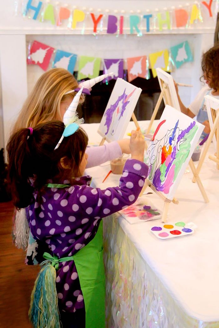 Magical Unicorn Art Birthday Party on Kara's Party Ideas | KarasPartyIdeas.com (10)