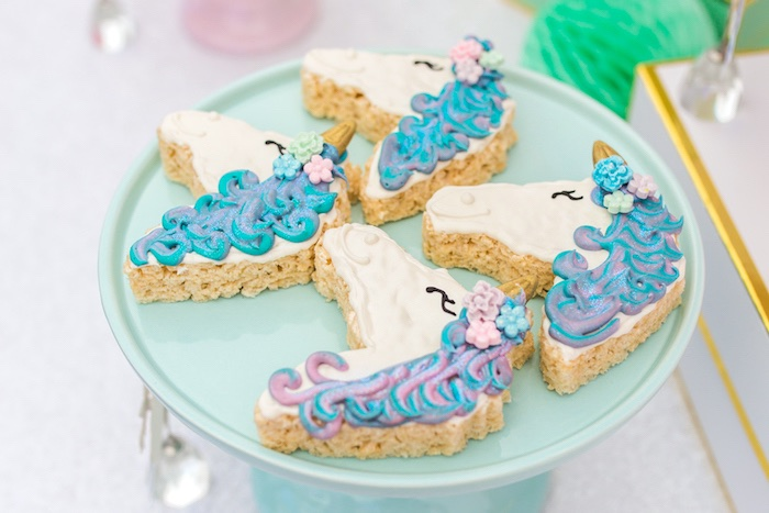 Unicorn Krispies from a Magical Unicorn Birthday Party on Kara's Party Ideas | KarasPartyIdeas.com (29)