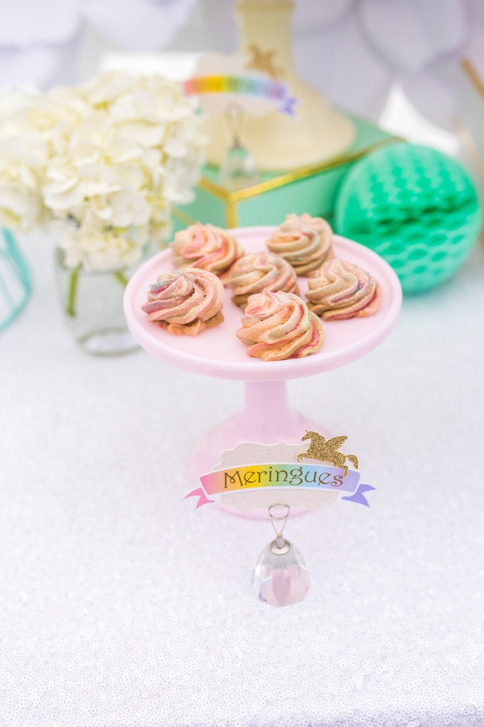 Meringues from a Magical Unicorn Birthday Party on Kara's Party Ideas | KarasPartyIdeas.com (25)