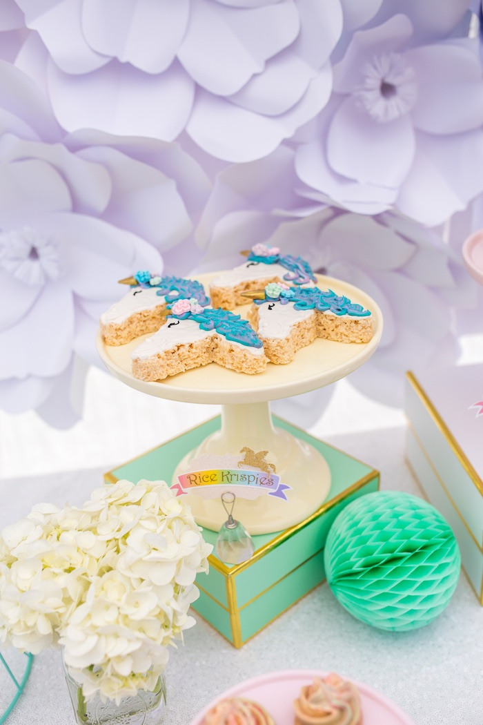 Unicorn Krispies from a Magical Unicorn Birthday Party on Kara's Party Ideas | KarasPartyIdeas.com (24)