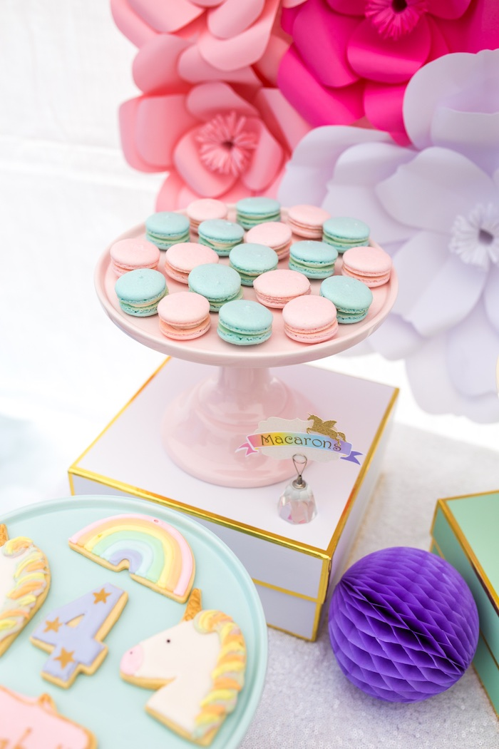 Macarons from a Magical Unicorn Birthday Party on Kara's Party Ideas | KarasPartyIdeas.com (20)