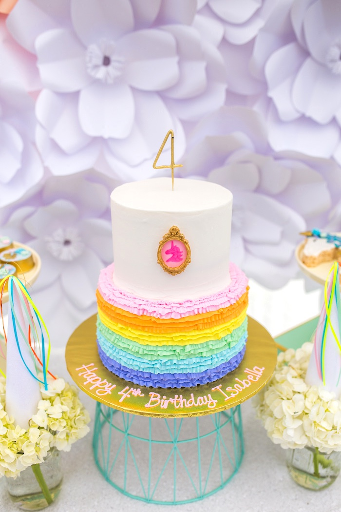 Cake from a Magical Unicorn Birthday Party on Kara's Party Ideas | KarasPartyIdeas.com (18)