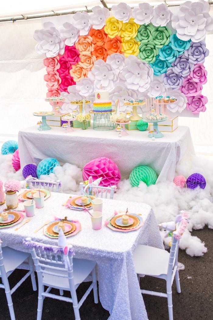 kara 39 s party ideas magical unicorn birthday party kara 39 s. Black Bedroom Furniture Sets. Home Design Ideas