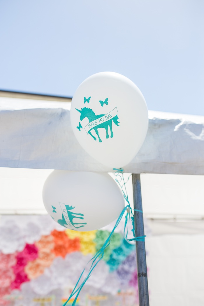 Unicorn balloons from a Magical Unicorn Birthday Party on Kara's Party Ideas | KarasPartyIdeas.com (11)
