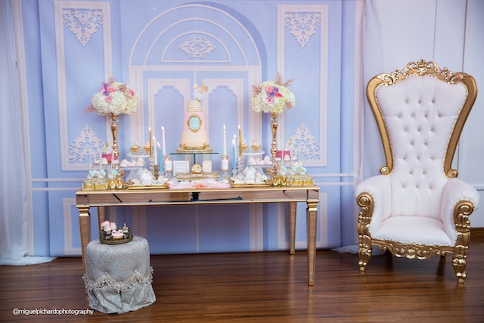 Dessert table from a Marie Antoinette Baby Shower on Kara's Party Ideas | KarasPartyIdeas.com (33)