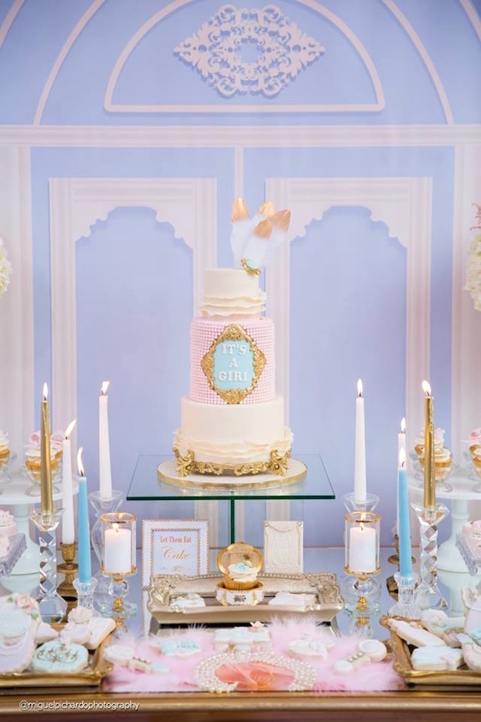 Marie Antoinette Baby Shower on Kara's Party Ideas | KarasPartyIdeas.com