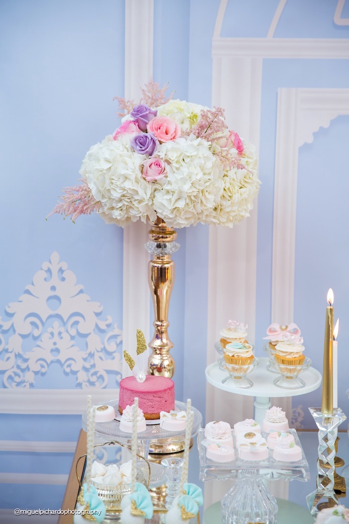 Blooms from a Marie Antoinette Baby Shower on Kara's Party Ideas | KarasPartyIdeas.com (30)
