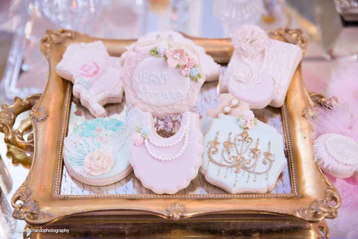 Cookies from a Marie Antoinette Baby Shower on Kara's Party Ideas | KarasPartyIdeas.com (27)