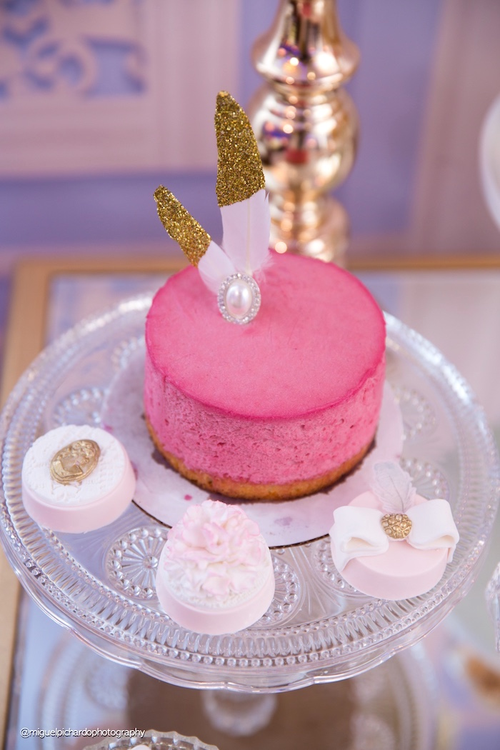 Cake from a Marie Antoinette Baby Shower on Kara's Party Ideas | KarasPartyIdeas.com (23)