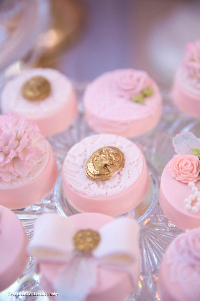 Chocolate covered Oreos from a Marie Antoinette Baby Shower on Kara's Party Ideas | KarasPartyIdeas.com (21)