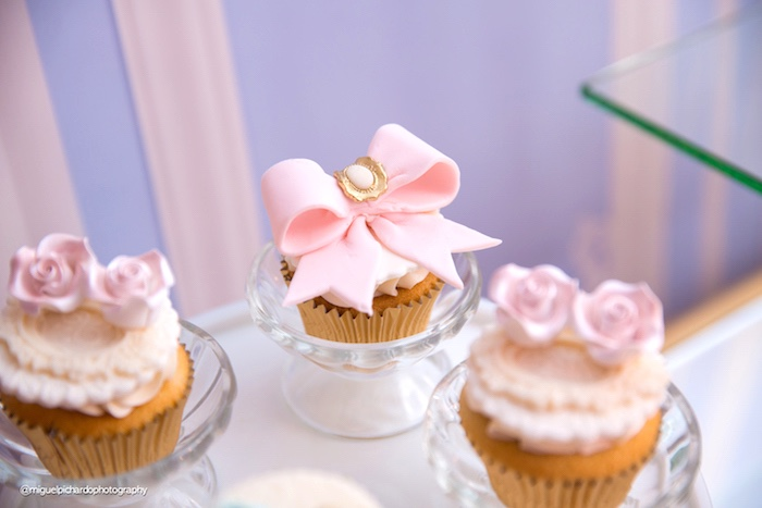 Cupcake from a Marie Antoinette Baby Shower on Kara's Party Ideas | KarasPartyIdeas.com (18)