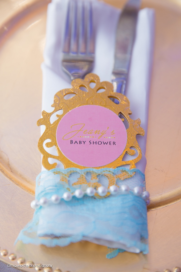 Utensil pack from a Marie Antoinette Baby Shower on Kara's Party Ideas | KarasPartyIdeas.com (44)