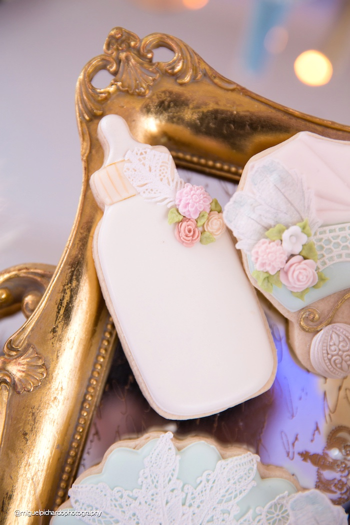 Bottle sugar cookies from a Marie Antoinette Baby Shower on Kara's Party Ideas | KarasPartyIdeas.com (14)