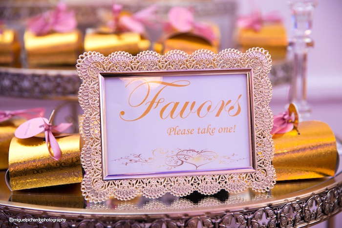 Favor party signage from a Marie Antoinette Baby Shower on Kara's Party Ideas | KarasPartyIdeas.com (12)