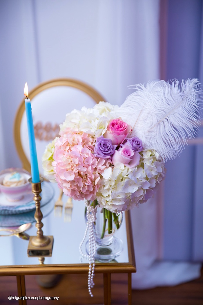 Blooms from a Marie Antoinette Baby Shower on Kara's Party Ideas | KarasPartyIdeas.com (41)