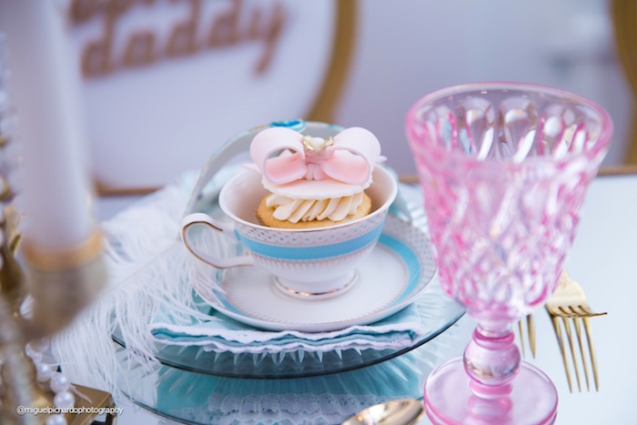 Tea cup place setting from a Marie Antoinette Baby Shower on Kara's Party Ideas | KarasPartyIdeas.com (39)