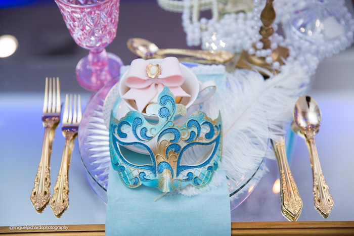 Place setting from a Marie Antoinette Baby Shower on Kara's Party Ideas | KarasPartyIdeas.com (38)