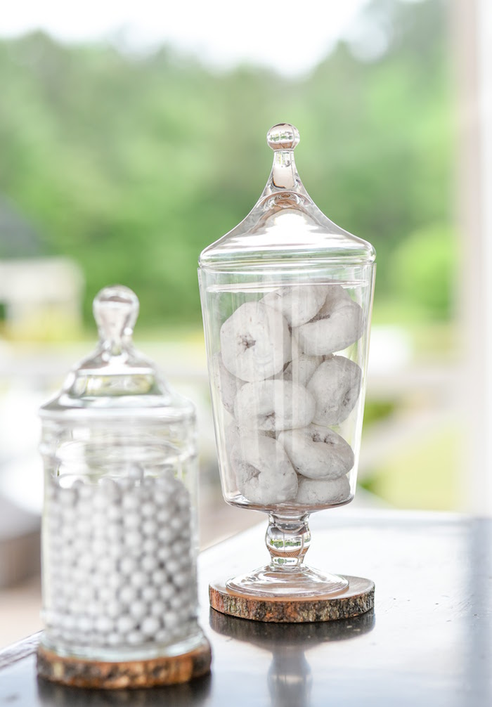 Apothecary jars filled with sweets from a Message in a Bottle Sea Inspired Wedding on Kara's Party Ideas | KarasPartyIdeas.com (11)