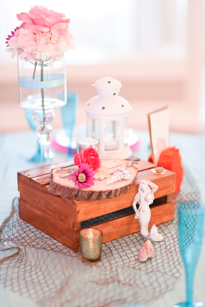 Guest table centerpiece from a Message in a Bottle Sea Inspired Wedding on Kara's Party Ideas | KarasPartyIdeas.com (26)