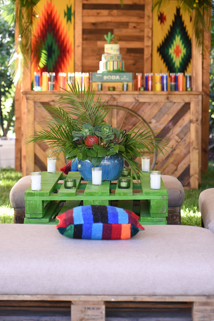 Pallet table from a Mexican Birthday Fiesta on Kara's Party Ideas | KarasPartyIdeas.com (20)