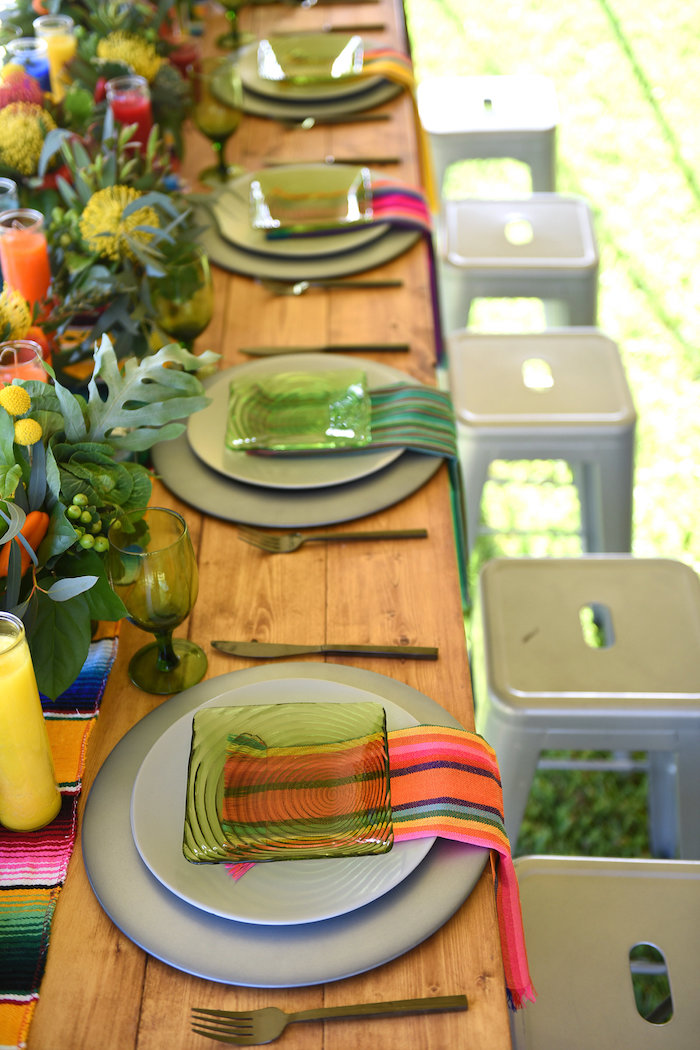 Place settings from a Mexican Birthday Fiesta on Kara's Party Ideas | KarasPartyIdeas.com (13)