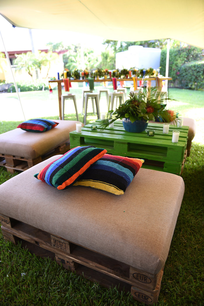 Lounge area from a Mexican Birthday Fiesta on Kara's Party Ideas | KarasPartyIdeas.com (12)