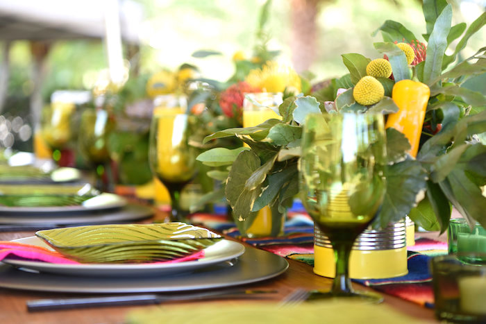 Guest tablescape from a Mexican Birthday Fiesta on Kara's Party Ideas | KarasPartyIdeas.com (30)