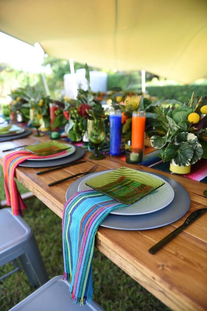 Place setting from a Mexican Birthday Fiesta on Kara's Party Ideas | KarasPartyIdeas.com (9)