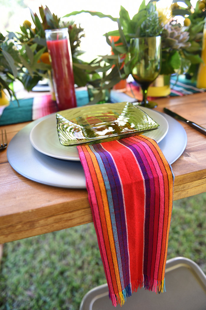 Place setting from a Mexican Birthday Fiesta on Kara's Party Ideas | KarasPartyIdeas.com (6)