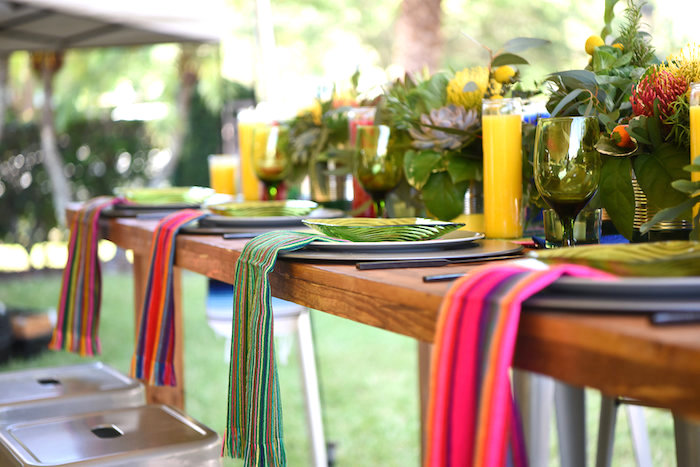 Guest tablescape from a Mexican Birthday Fiesta on Kara's Party Ideas | KarasPartyIdeas.com (29)