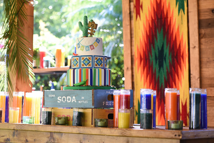 Cakescape from a Mexican Birthday Fiesta on Kara's Party Ideas | KarasPartyIdeas.com (22)
