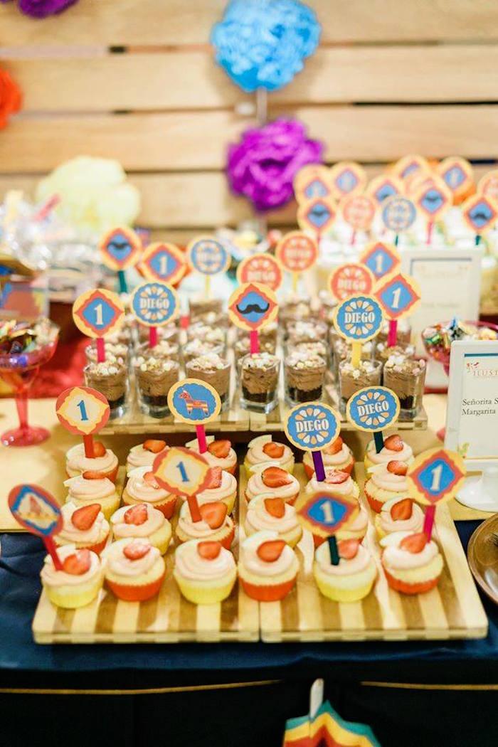 Cupcakes from a Mexican Fiesta Birthday Party on Kara's Party Ideas | KarasPartyIdeas.com (19)