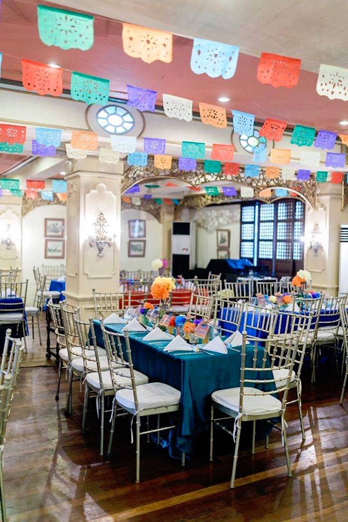 Guest tables from a Mexican Fiesta Birthday Party on Kara's Party Ideas | KarasPartyIdeas.com (17)