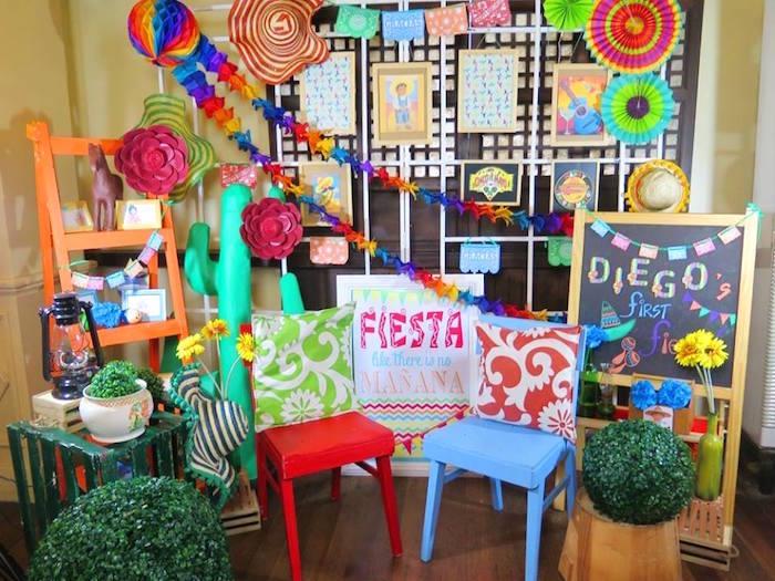 Decor from a Mexican Fiesta Birthday Party on Kara's Party Ideas | KarasPartyIdeas.com (8)