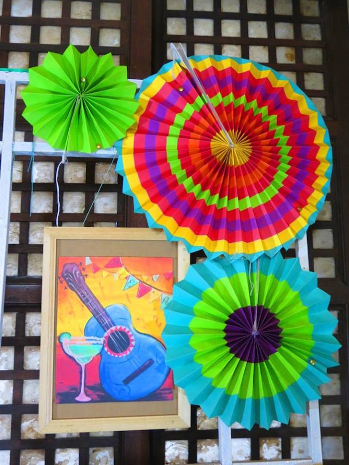 Decor from a Mexican Fiesta Birthday Party on Kara's Party Ideas | KarasPartyIdeas.com (7)