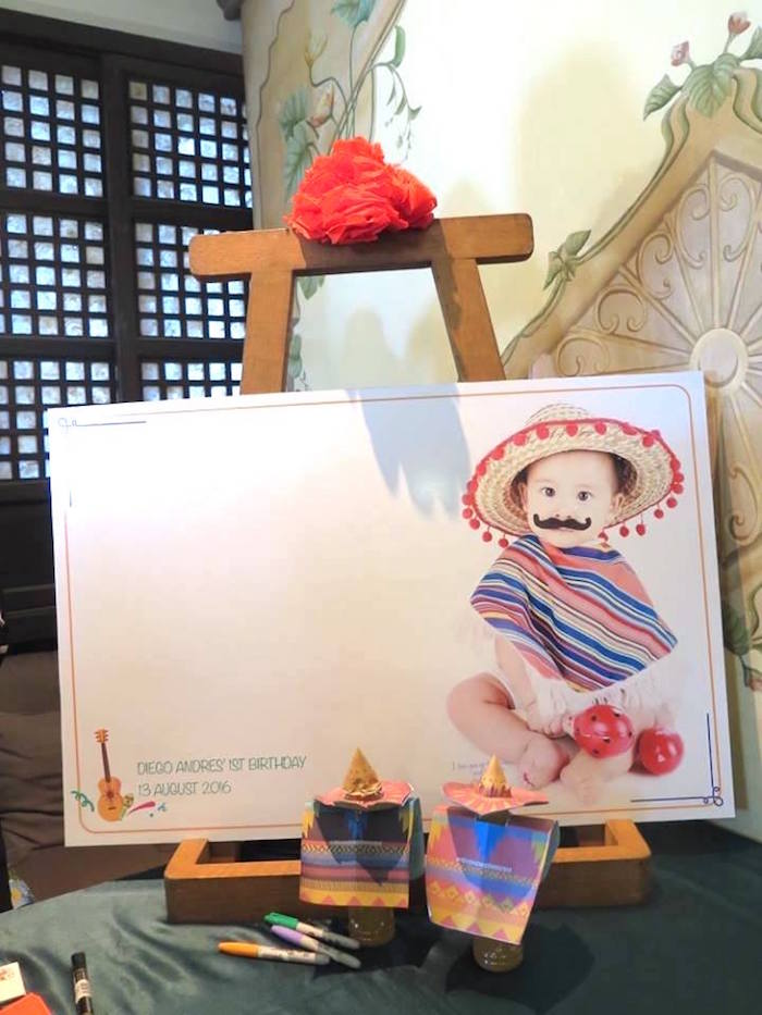 Signing board from a Mexican Fiesta Birthday Party on Kara's Party Ideas | KarasPartyIdeas.com (6)