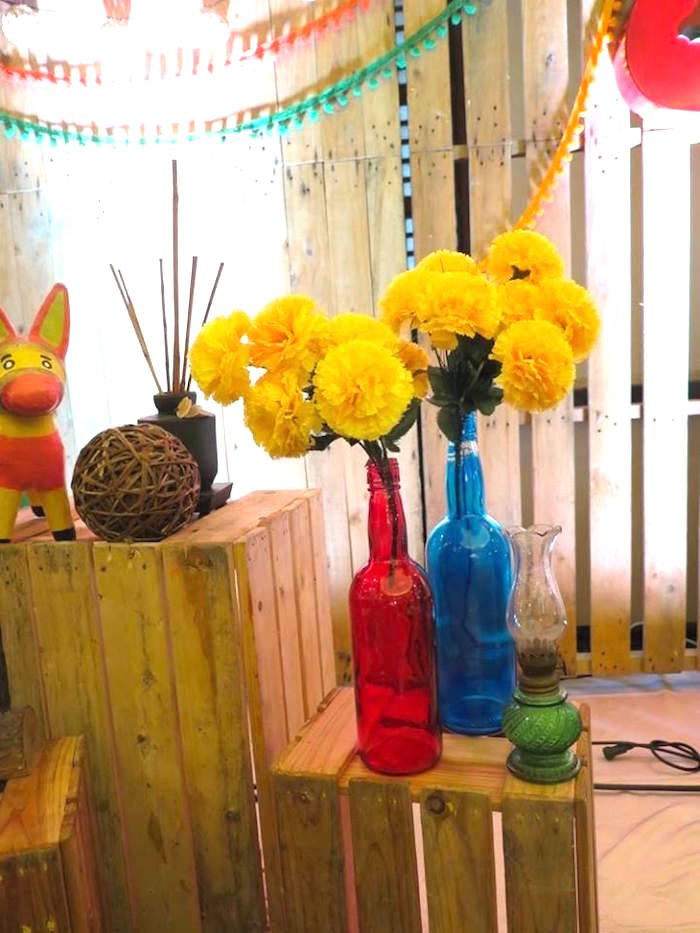 Blooms and decor from a Mexican Fiesta Birthday Party on Kara's Party Ideas | KarasPartyIdeas.com (29)