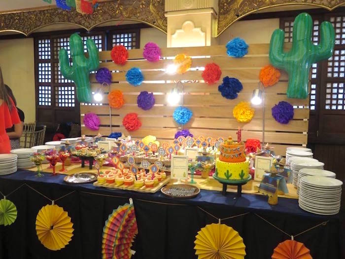 Fiesta Party Table From A Mexican Birthday On Kara S Ideas Karaspartyideas