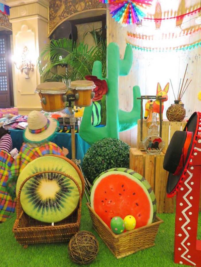 Fiesta decor from a Mexican Fiesta Birthday Party on Kara's Party Ideas | KarasPartyIdeas.com (25)