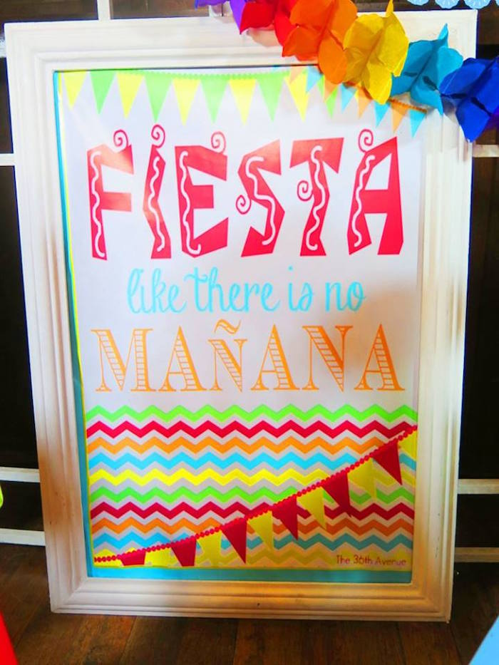 Party signage from a Mexican Fiesta Birthday Party on Kara's Party Ideas | KarasPartyIdeas.com (24)