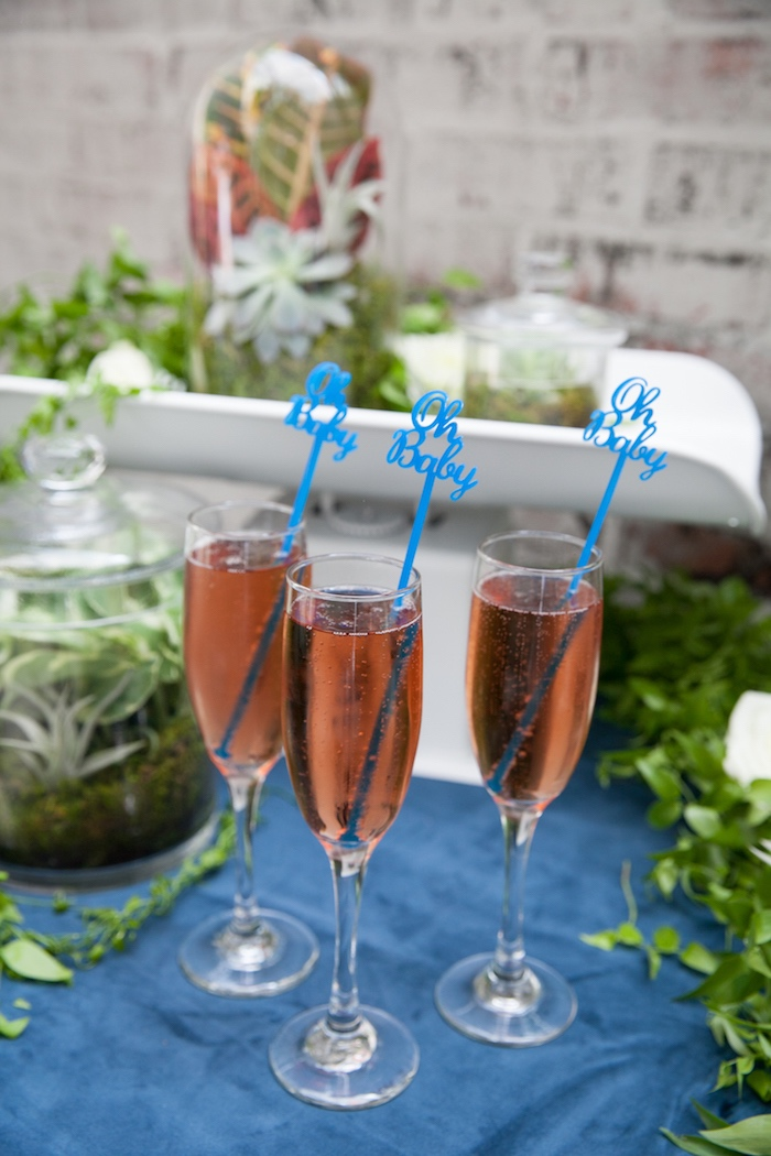 Champagne + drinks from a Modern Boy Baby Shower on Kara's Party Ideas | KarasPartyIdeas.com (26)