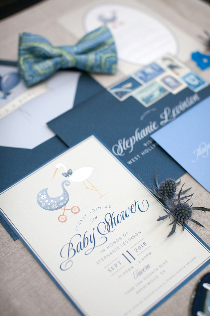 Invitation + stationery from a Modern Boy Baby Shower on Kara's Party Ideas | KarasPartyIdeas.com (20)