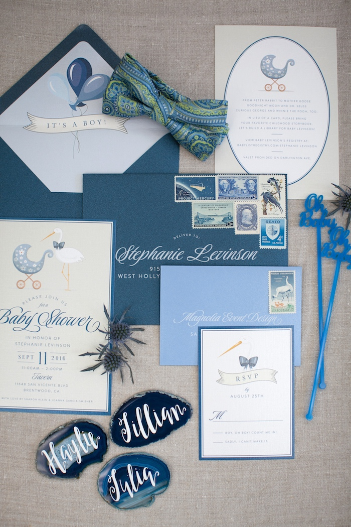 Invitation + stationery from a Modern Boy Baby Shower on Kara's Party Ideas | KarasPartyIdeas.com (19)