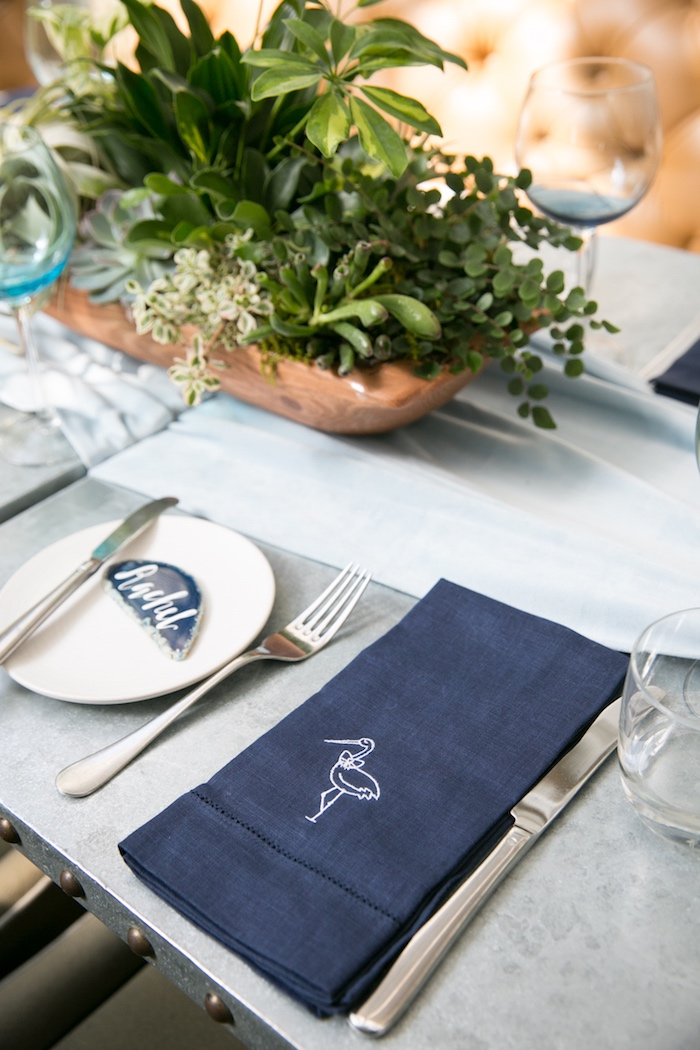 Place setting from a Modern Boy Baby Shower on Kara's Party Ideas | KarasPartyIdeas.com (16)